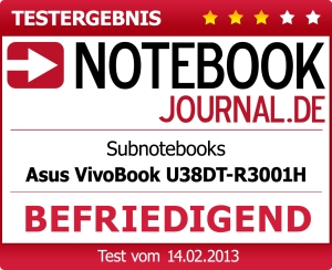 Test 02/13 - http://www.notebookjournal.de/tests/asus-vivobook-u38dt-r3001h-1956