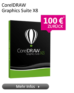 CorelDRAW Graphics Suite X8 18.0 DE Win DVD deutsch 100€ Cashback