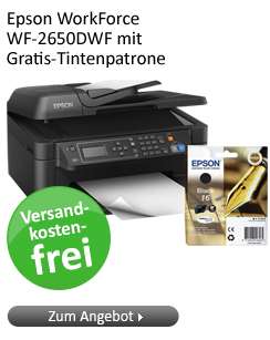 Epson WorkForce WF-2650DWF mit Gratis-Tintenpatrone